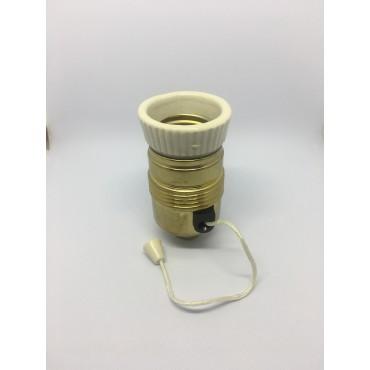 OPRAWKA E27 metalowa z włącznikiem sznurkiem