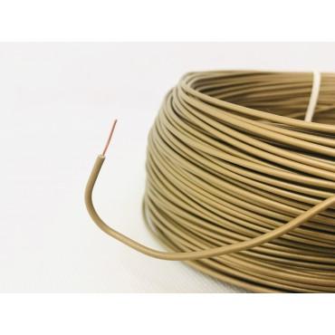 Przewód dy drut 0.5mm mosiężny złoty do żyrandola - 1m