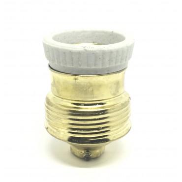 Oprawka E14 mosiądz CERAMIKA do lamp mały gwint