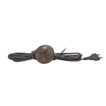 Przewód kabel z włącznikiem wtyczką lamp czarny
