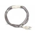 Przewód w oplocie kabel materiałowy szary- 2m