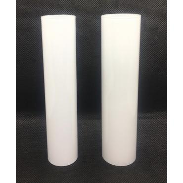 Szklana gładka gilza osłonka do żyrandola biała